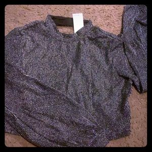 Bcbg night out crop blouse sexy and elegant